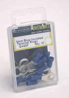 6 mm Blue Insulated Terminal Rings Packet of 10