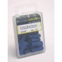 6.3 mm Blue Female Insulated Push-ons Packet of 10