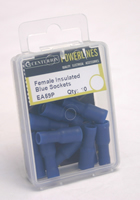 26 mm x 4 mm Female Insulated Blue Sockets Packet of 10