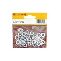 M5 Zinc Plated Nuts and Washers Packet of 20