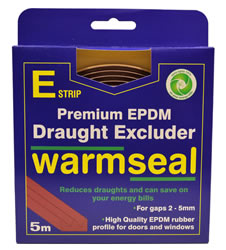 5m Brown E Profile Longlife Foam Draught Excluder