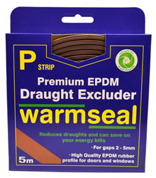 5m Brown P Profile Longlife Foam Draught Excluders