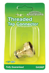 1 / 2 inch 3 / 4 inch BSP Brass Threaded Tap Adaptor