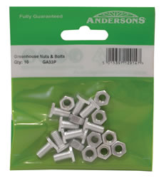 M6 x 11 mm Cropped Head Nut and Bolts Packet of 10