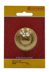 50 mm 2 inch Polished Brass Georgian Cupboard Knob