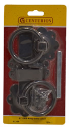 6 inch Epoxy Black Ring Gate Latch