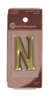 1 1 / 2 inch Gold Effect Letter N