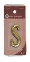1 1 / 2 inch Gold Effect Letter S