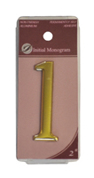 2 inch Gold Effect Numeral 1