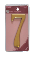 3 inch Gold Effect Numeral 7