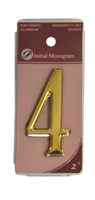 2 inch Gold Effect Numeral 4