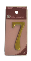 2 inch Gold Effect Numeral 7