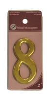 2 inch Gold Effect Numeral 8