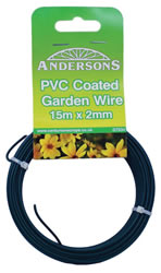 15m x 2 mm 1mm plastic PVC Coated Garden Wire