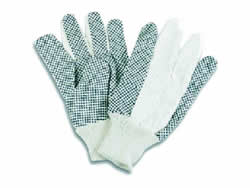 Men Cotton 1mm plastic PVC Dotted Gloves