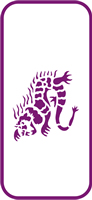 135 mm x 60 mm Mini Stencil Dragon