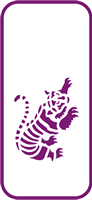 135 mm x 60 mm Mini Stencil Tiger