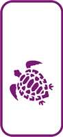 135 mm x 60 mm Mini Stencil Turtle