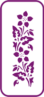 135 mm x 60 mm Mini Stencil Passionflower Border