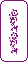 135 mm x 60 mm Mini Stencil Buttercup Border