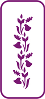 135 mm x 60 mm Mini Stencil Sweet Pea Border
