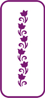 135 mm x 60 mm Mini Stencil Ornamental Ivy