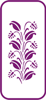 135 mm x 60 mm Mini Stencil Summer Bloom Border