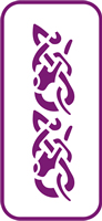 135 mm x 60 mm Mini Stencil Celtic Tribal Border
