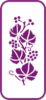 135 mm x 60 mm Mini Stencil Wild Raspberry Border