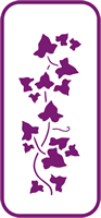 135 mm x 60 mm Mini Stencil Ivy Border 1