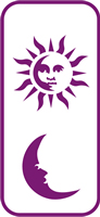 135 mm x 60 mm Mini Stencil Sun and Moon