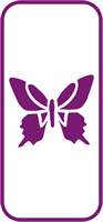 135 mm x 60 mm Mini Stencil Butterfly 1