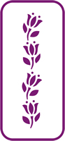 135 mm x 60 mm Mini Stencil Tulip Border