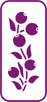 135mm x 60 mm Mini Stencil Crab Apple Border
