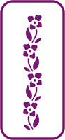 135 mm x 60 mm Mini Stencil Pansy Border