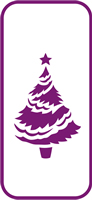 135 mm x 60 mm Mini Stencil Christmas Tree