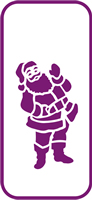 135 mm x 60 mm Mini Stencil Santa Claus