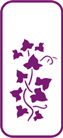 135 mm x 60 mm Mini Stencil Ivy Border 3