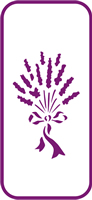 135 mm x 60 mm Mini Stencil Lavendar Bouquet