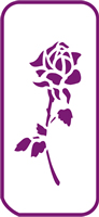 135 mm x 60 mm Mini Stencil Rose