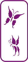 135 mm x 60 mm Mini Stencil Flying Butterflies