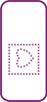 135 mm x 60 mm Mini Stencil Cross Stitch Heart