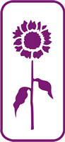 135 mm x 60 mm Mini Stencil Sunflower