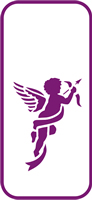 135 mm x 60 mm Mini Stencil Cherub