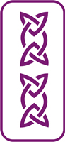 135 mm x 60 mm Mini Stencil Celtic Knot Border