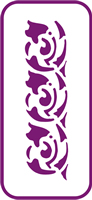 135 mm x 60 mm Mini Stencil Arabesque