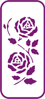 135 mm x 60 mm Mini Stencil Rose Border