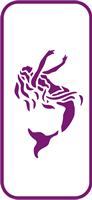 135 mm x 60 mm Mini Stencil Mermaid
