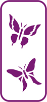135 mm x 60 mm Mini Stencil Butterfly 4