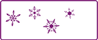 350 mm x 140 mm Border Stencil Snowflakes